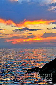 Erie Sunset by Jay Nodianos