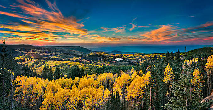 Fall Sunset On Grand Mesa by James O Thompson
