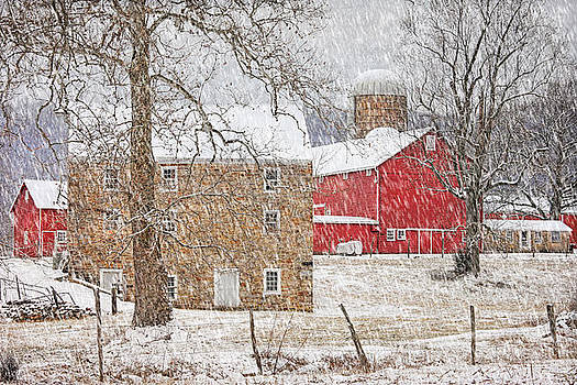 February Snow At Warne's Mill by Pat Abbott