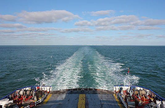 Ferry Boat leaving UK land from Dover to Calais by Kiril Stanchev
