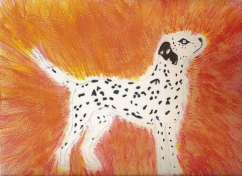 Fire Dog by Elisheva Herrera