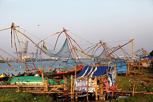 Fishing Nets In Fort Kochi, Kerala by Jill Schneider