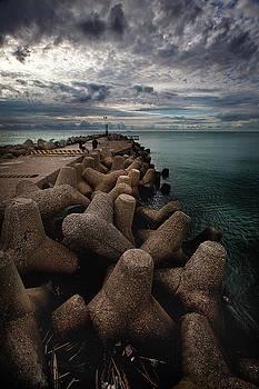 Fiumicino port of Rome by Franco Farina