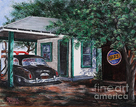 Five Points Ohio Gas Station by Rita Miller