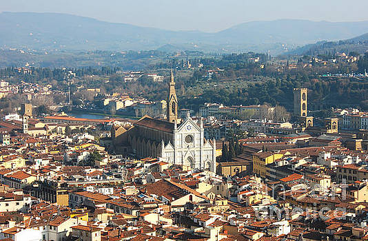 Florence with The Basilica di Santa Croce by Kiril Stanchev