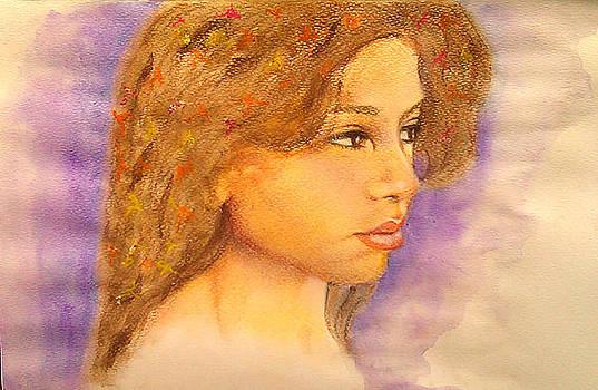 Flowers in Her Hair III. by Paula Steffensen