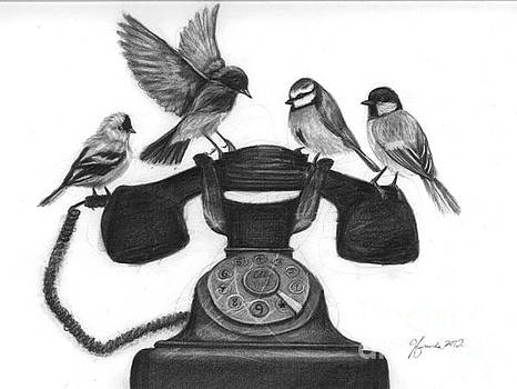 Four Calling Birds by J Ferwerda