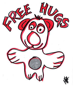 Free Hugs Bear by Jera Sky