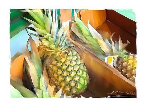 Fresh Pineapples by Bob Salo