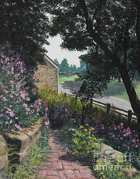 Garden At Pendarvis Mineral Point Wisconsin  1 by Rita Miller