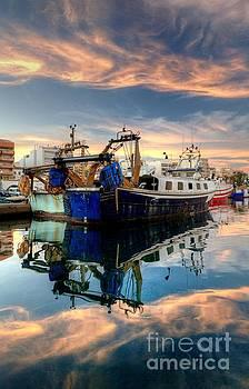 Garrucha Harbour Sunset by Tony Unwin