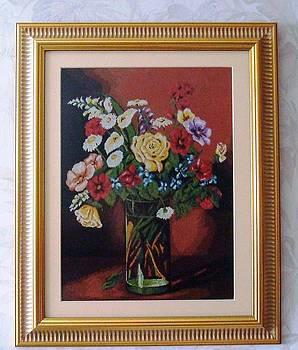 Glass with flowers by Andreea Turcitu