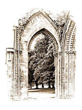 Glastonbury Abbey Arch Ruins by Menega Sabidussi