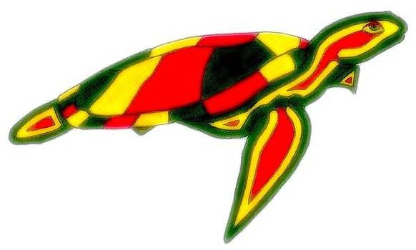 Glow Sea Turtle by Brett Smith