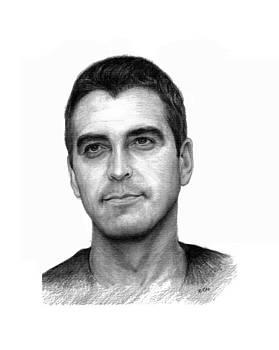 Goerge Clooney by Lou Ortiz