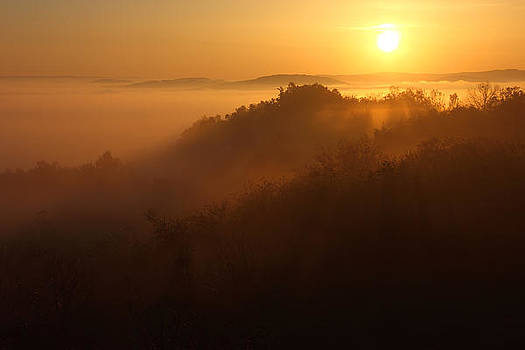 Golden Sunrise over the Mountain by Kiril Stanchev