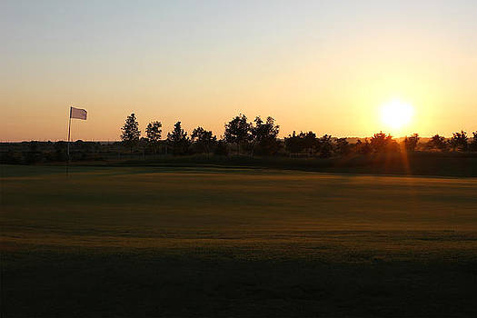 Golf Course Sunset by Kiril Stanchev