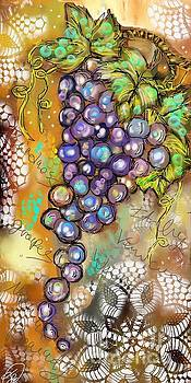 Grapes in the Vineyard  by Terri Allbright