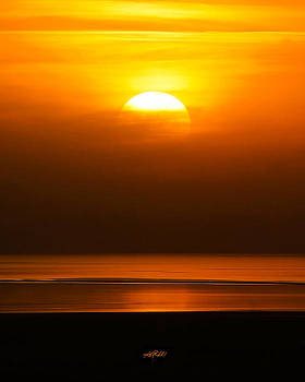 Great Salt Lake Sunset by Kirk Strickland