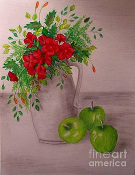 Green Apples by Peggy Miller