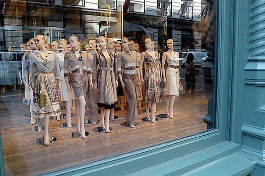 Mannekins in display window, SoHo, New York by Nano Calvo
