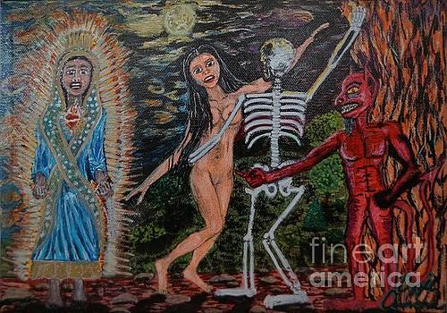Guadalupe el Diablo y el baile del amor by Visual  Renegade Art
