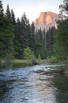 Half Dome and Merced River in Yosemite by Bruce Gourley
