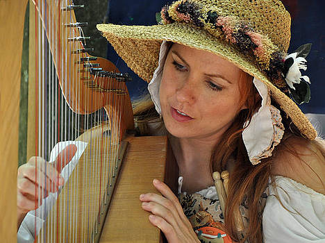 Harpist in a Hat by Sharon Sefton