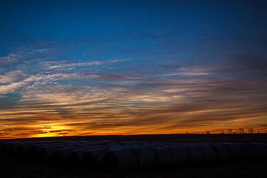 Hay Bale Sunrise by Bryan Davis