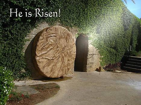 He is Risen by Inspirational  Designs