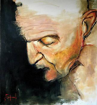 Head Of An Old Man by Alexei Biryukoff