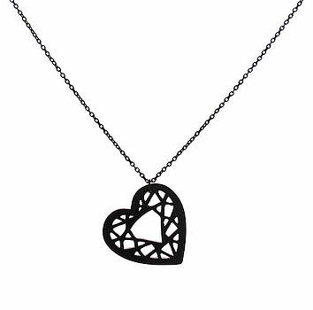 Heart Pendant Necklace by Rony Bank