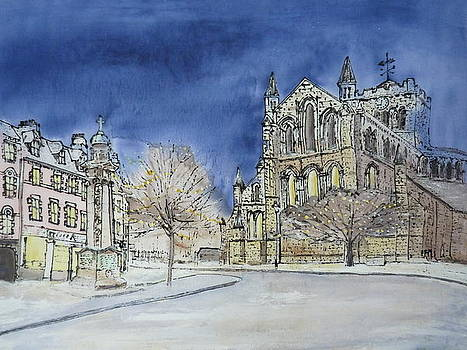 Hexham Abbey England by Hazel Millington