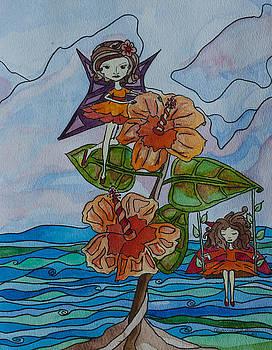 Hibiscus Fairies by Alexandra Benson