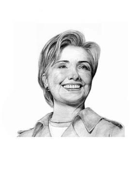 Hillary Clinton by Lou Ortiz