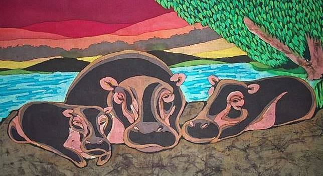 Hippo Family by Lukandwa Dominic