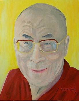 His Holiness the Dali Lama by Gilbert Bernhardt