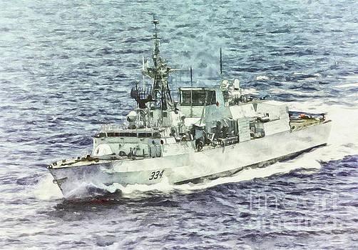 HMCS Regina By Shawna Mac by Shawna Mac