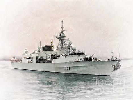 HMCS Toronto Leaving Halifax by Shawna Mac by Shawna Mac