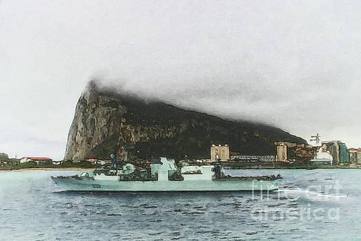 HMCS Toronto Underway by Shawna Mac by Shawna Mac