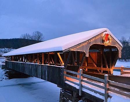 Holiday Covered Bridge by Philip Bobrow