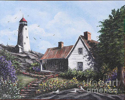 Home By Lighthouse by Rita Miller