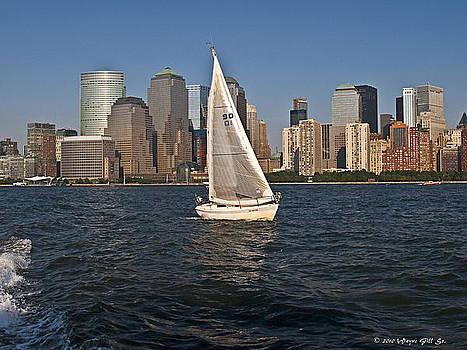 Hudson Sailing by Wayne Gill