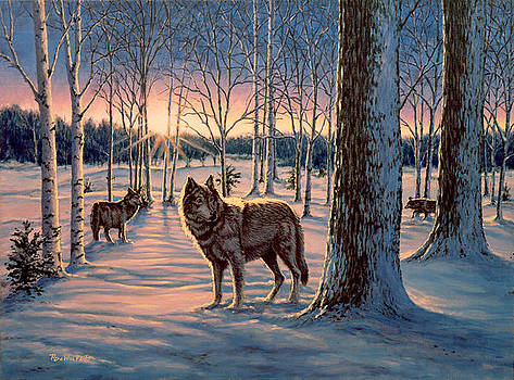 Hunters at Twilight by Richard De Wolfe