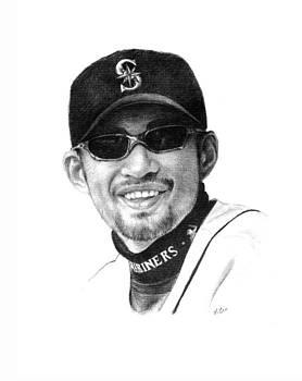 Ichiro Suzuki - Seattle Mariners by Lou Ortiz