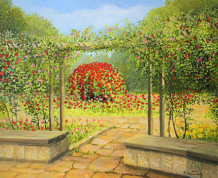 In The Rose Garden by Kiril Stanchev