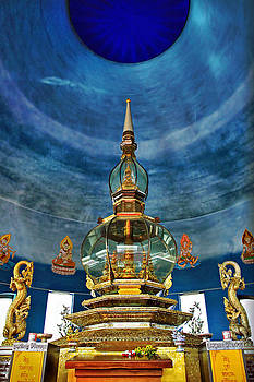 Inside Crystal Pagoda by Suradej Chuephanich
