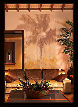 Interior Palm Mural by Rod Cameron