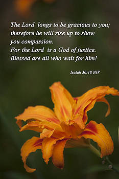 Isaiah 30 18 by Inspirational  Designs