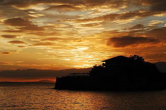Island Resort at Sunset-1 by Jun Camus
